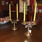 18th Century Brass Candelabras