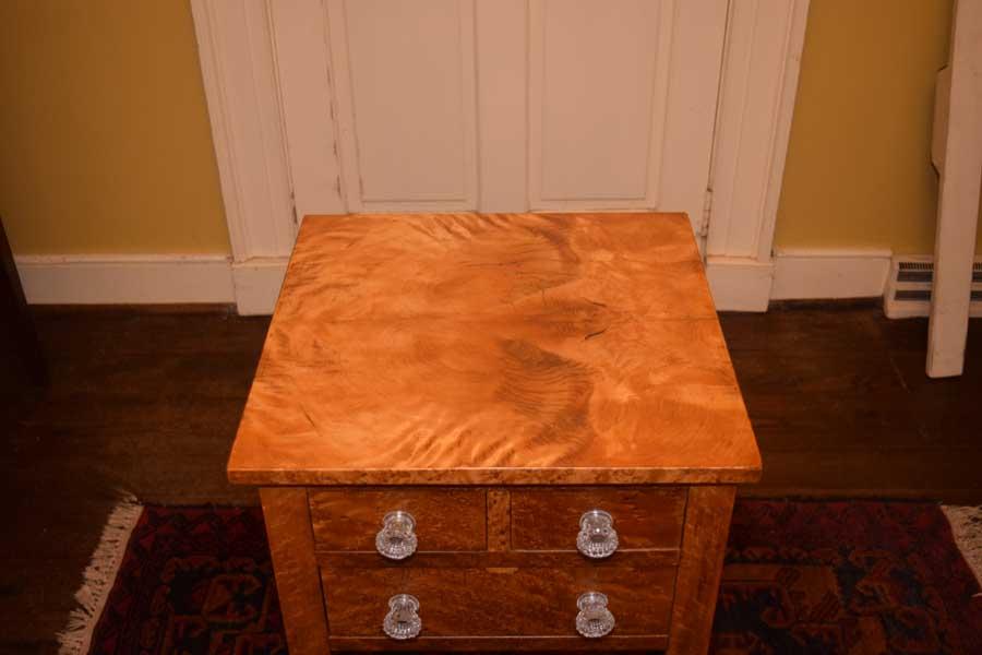 3 Drawer Bird\'s Eye Maple Table