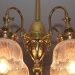 4 light Brass Gas Fixture