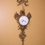 Gold Gilded Wall Clock