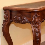 Mahogany Serpentine Console Table