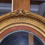 Oval Gold Leaf Mirror