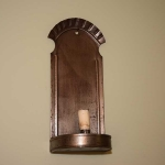 Pair of Tin Wall Sconces