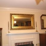 A Golden Leaf Mirror