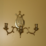 A Pair of Solid Brass wall Sconces