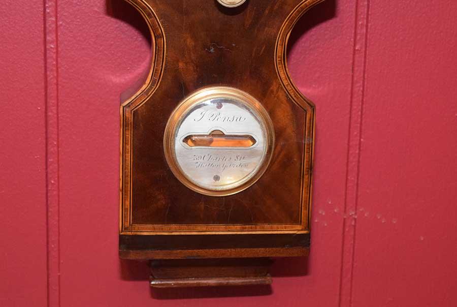 """Banded 10"""" Wheel Barometer"""