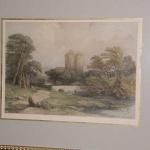 Engraving Berwick Castle