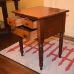 Bird's Eye Maple Drawer Front Table