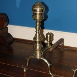 Brass Chppendale Andirons