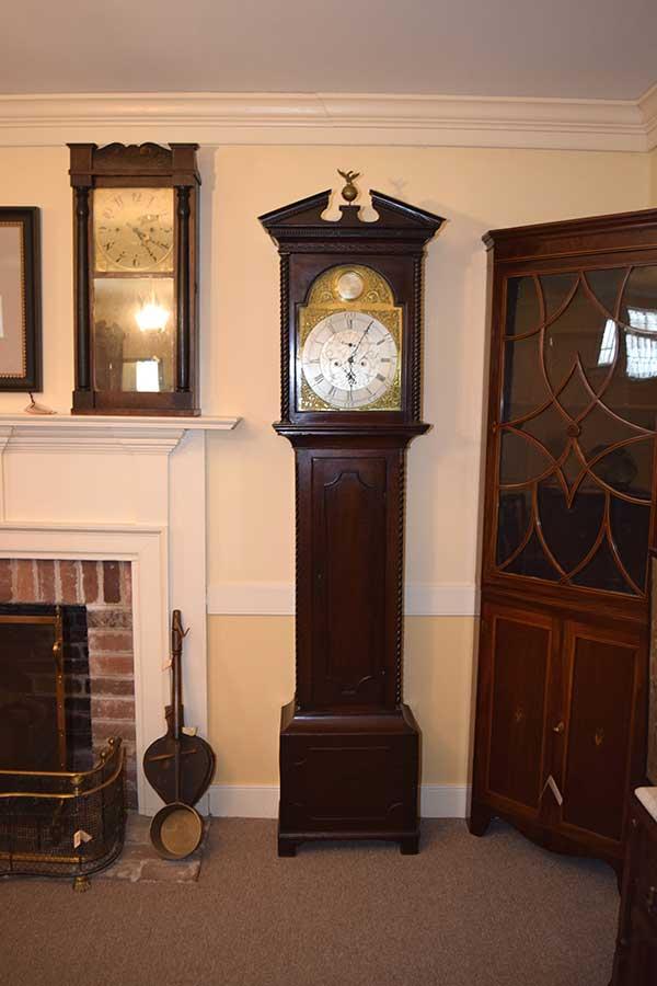Brass Dial Tall Case Clock