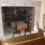 Brass & Wrought Iron Andirons