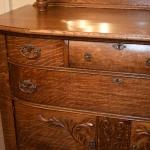 Carved Oak Sideboard