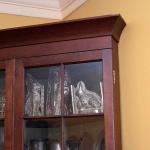 Cherry 16 Pane Corner Cupboard