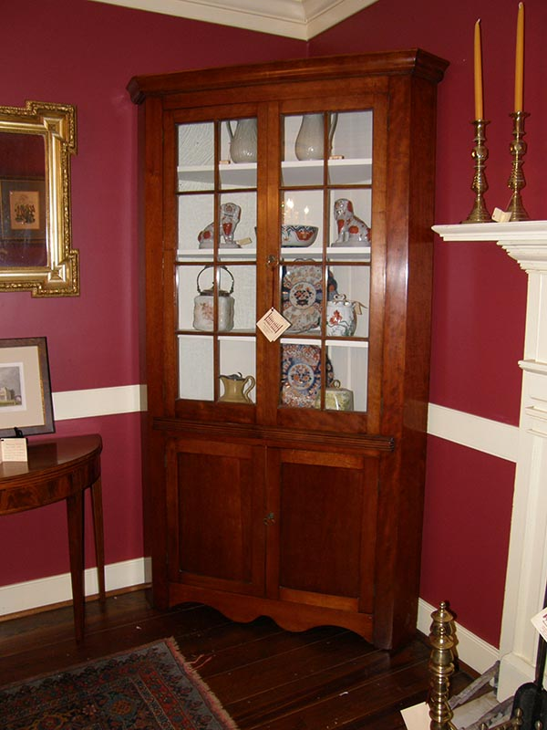 Cherry Corner Cupboard - Cherry Corner Cupboard Gates Antiques Ltd. Richmond, VA
