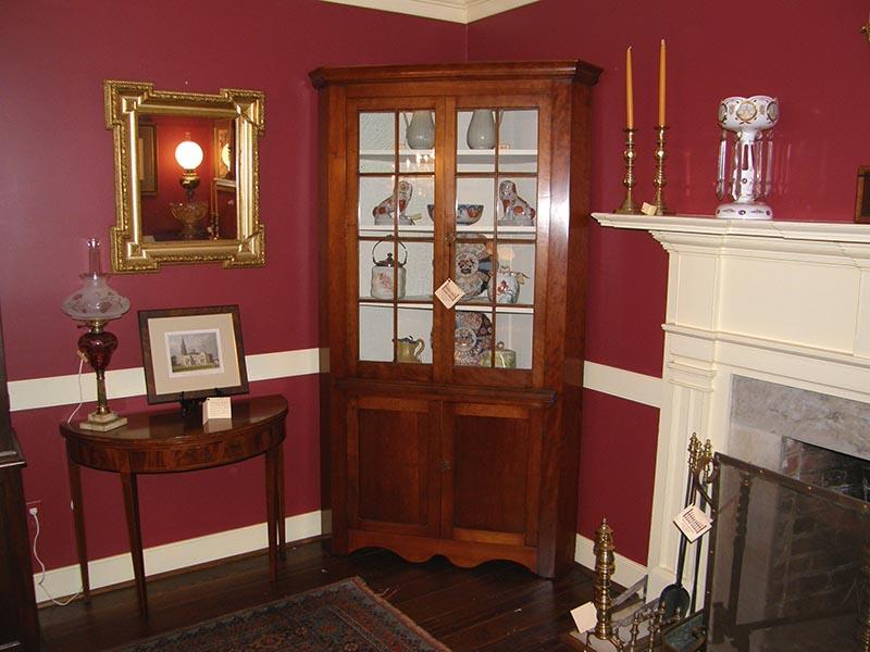 Cherry Corner Cupboard - Cherry Corner Cupboard Gates Antiques Ltd. Richmond, VA