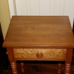 Cherry End Table with Turned Legs