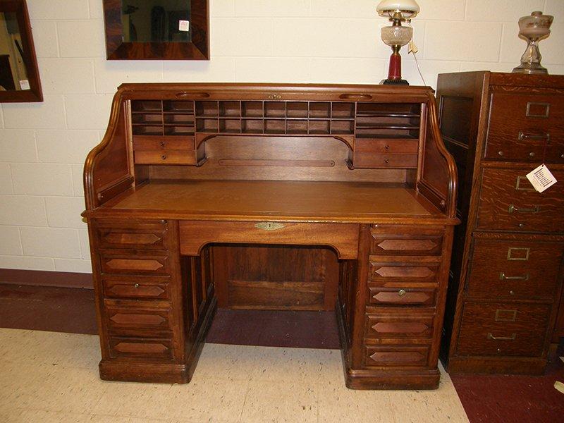 Cherry Roll Top Desk