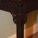 Chinese Chippendale Card Table