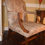 Chinese Chippendale Upholstered Chair