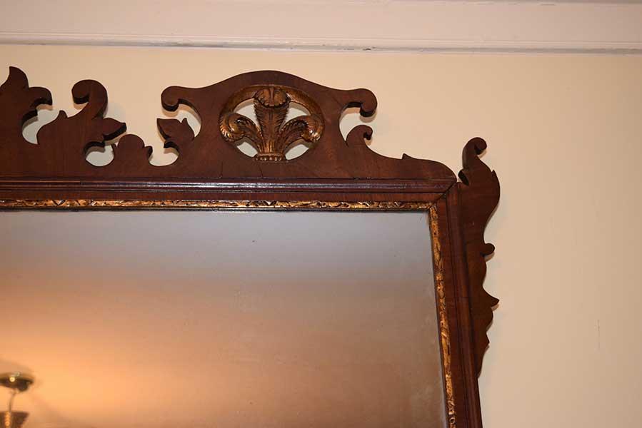 antique information frame chippendale overmantle mirror gates antiques ltd richmond va
