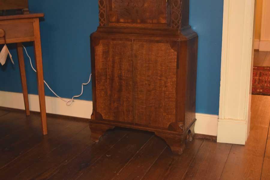 English Oak, Mahogany Case Clock