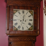 English Oak, Mahogany Case Clock