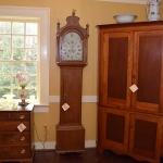 English Oak Tall Case Clock