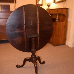 Figured Mahogany Tilt Top