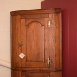 Heart Pine Corner Cupboard