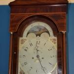 Inlaid Mahogany Tall Case Clock