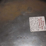 """Large """"1721"""" Pewter Plate"""
