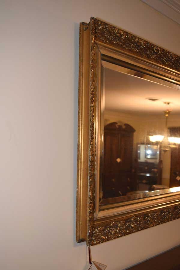 Large Gold Leaf Mirror