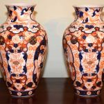 Large Pair of Imari Vases