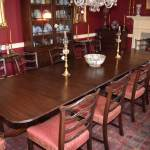 Large Three Pedestal Duncan Phyfe Dining Table
