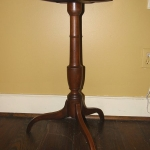 Mahogany Dish Top Candle Stand