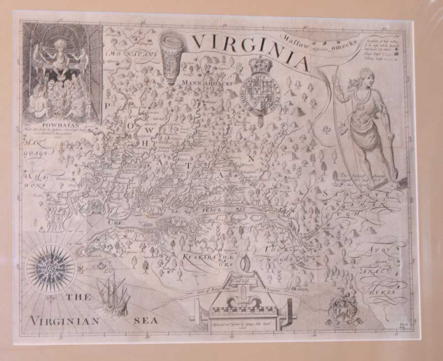 Map of Virginia by Smith