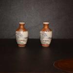 Miniature Pair of Kutani Vases