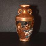 Miniature Pair of Satsuma Vases