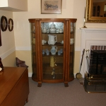 Oak Bow Front China Cupboard