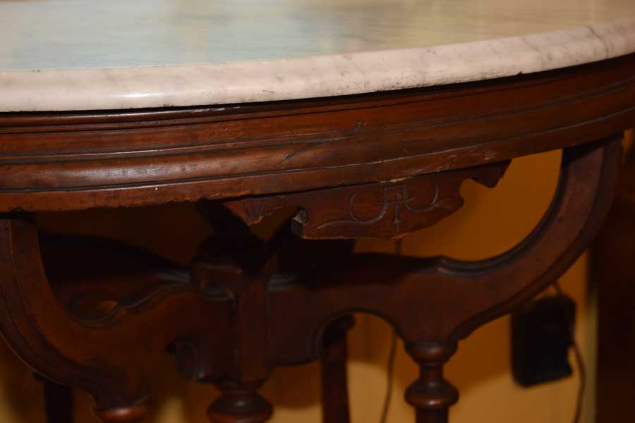 Oval Marble Top Table