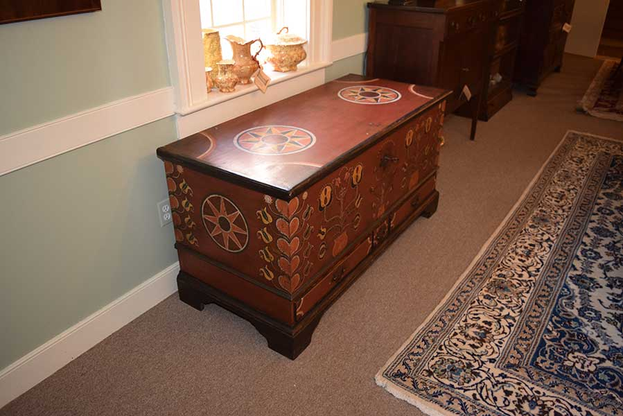 Painted Blanket Chest Gates Antiques