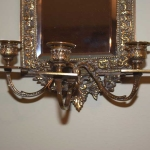 Pair of Brass Mirrored Sconces