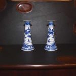 Pair of Canton Candlesticks