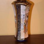 Pair of Cobalt Blue Satsuma Vases
