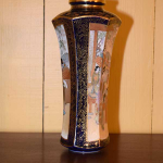 Pair of Cobalt Blue Satsuma Vases