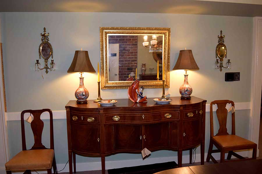Pair of Mirrored Wall Sconces