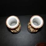 Pair of Rose Mandarin Vases
