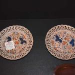 Pair Pierced Imari Plates