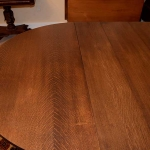 Quarter Sawn Oak Dining Room Table 462