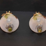 Rare Pair of Peg Lamps